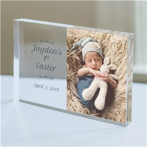 Personalized Baby's First Easter Photo Keepsake | Baby's First Easter Gifts