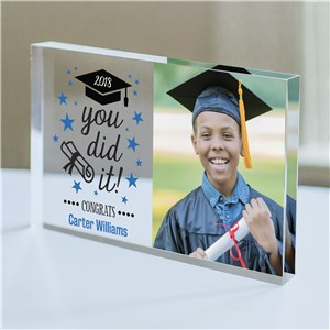 Personalized You Did It Photo Keepsake | Graduation Photo Gifts