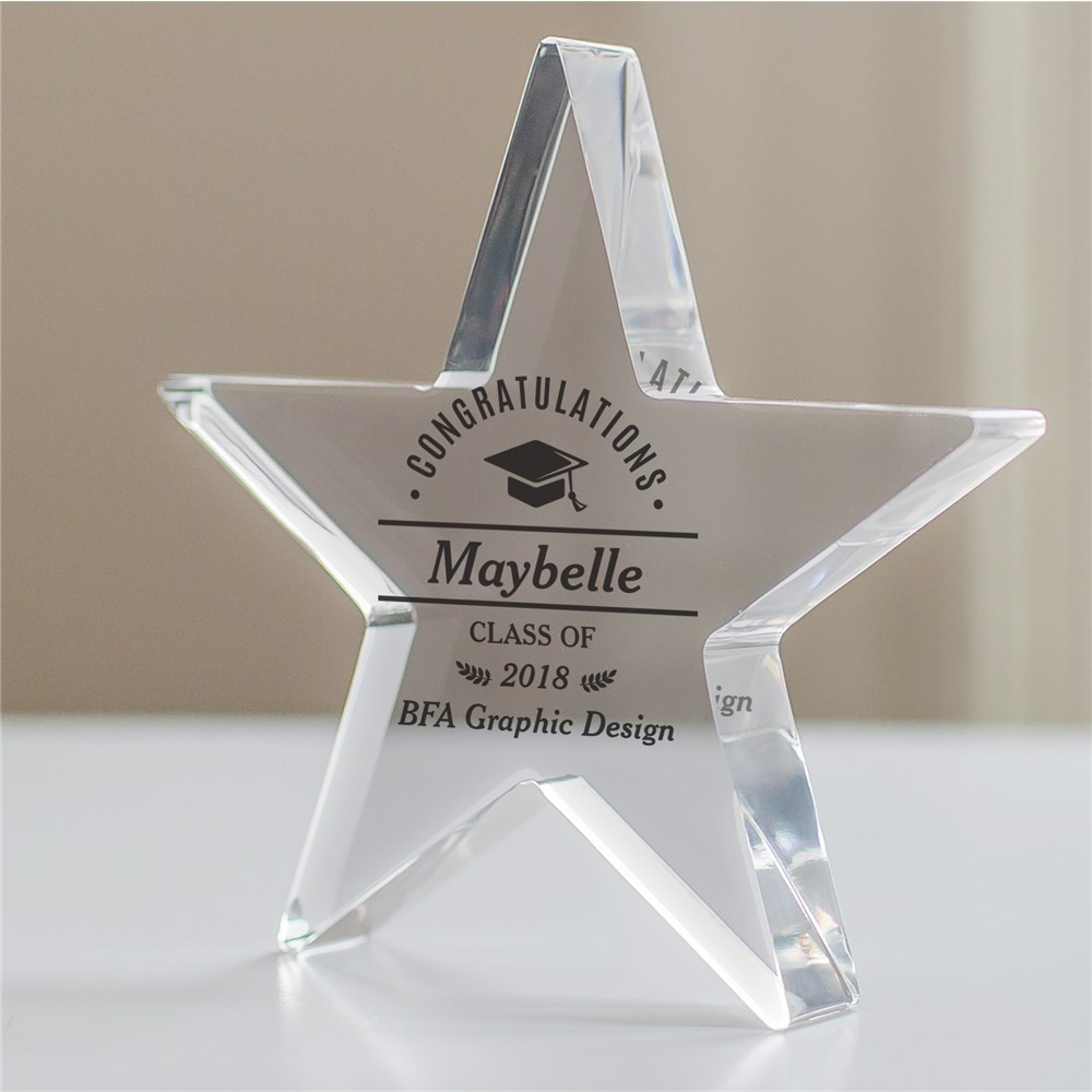 Personalized Congratulations Cap Star Keepsake | Personalized Graduation Gifts