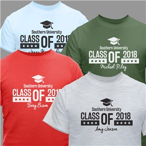 Personalized Class of Cap T-Shirt | Personalized Graduation Shirts