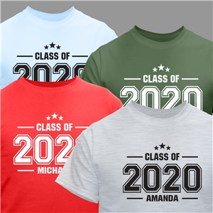 Personalized Stars Class of T-Shirt | Personalized Graduation Shirts