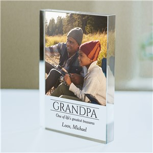 Personalized Life Greatest Treasures Photo Keepsake | Personalized Father's Day Keepsakes