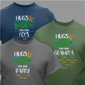Personalized Hugs and Fishes T-Shirt 312722X