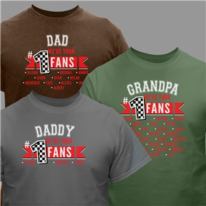 Personalized #1 Fan T-Shirt | Personalized Father's Day Shirts