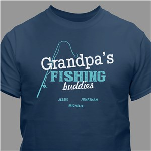 Grandpas Fishing Buddies Personalized T-Shirt | Grandpa Shirts For Father's Day