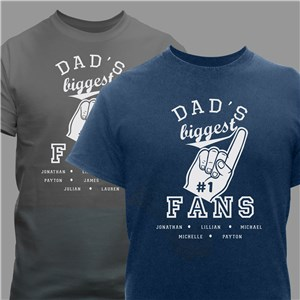 Personalized Biggest Fan Personalized T-shirt | Personalized Father's Day T Shirts