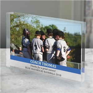 Personalized Coach Photo Keepsake | Personalized Gifts For Coaches