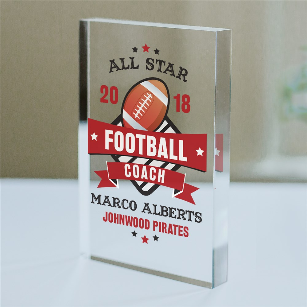 Personalized All Star Acrylic Keepsake | Personalized Coach Gifts