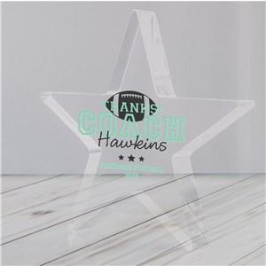 Personalized Thanks Coach Acrylic Star Keepsake | Personalized Coach Keepsakes
