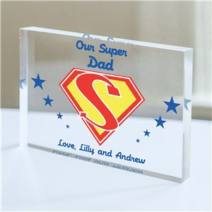 Personalized Super Dad Keepsake | Personalized Father's Day Gifts