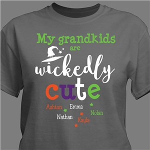 Personalized My Grandkids Are Wickedly Cute T-Shirt | Personalized Halloween Shirts
