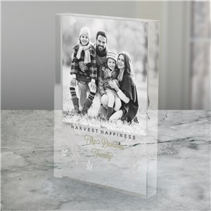 Personalized Harvest Happiness Acrylic Photo Keepsake | Photo Gifts