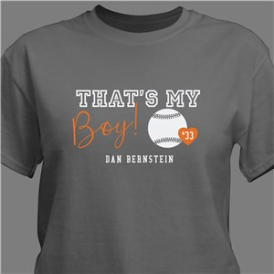 That's My Child Sports Personalized T-Shirt | Personalized Shirt For Sports Parent