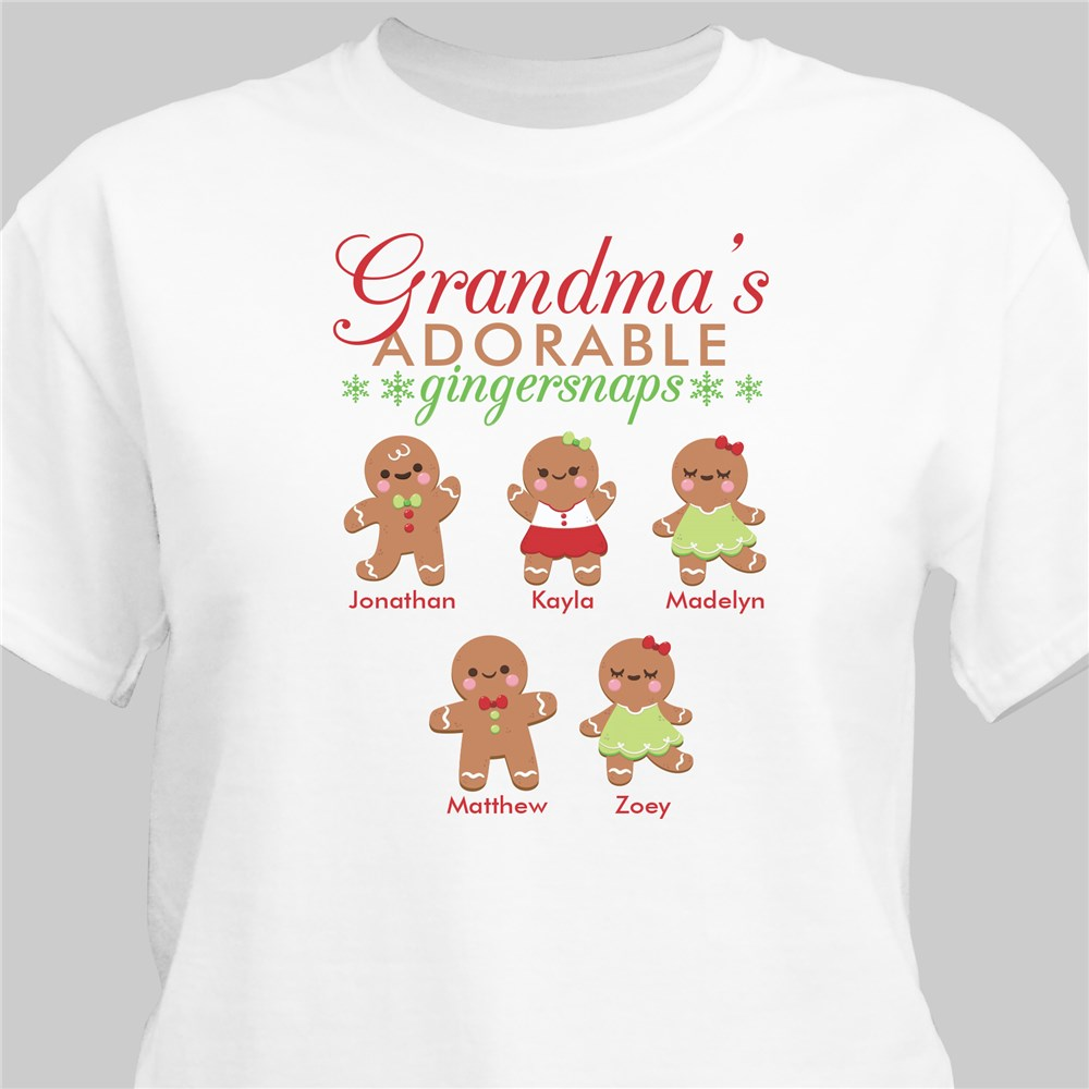 Personalized Adorable Gingersnaps T-Shirt | Women's Christmas T Shirts