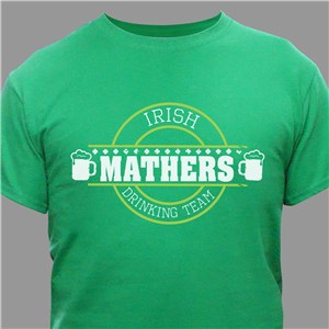 Personalized Irish Drinking Team T-Shirt 314170X