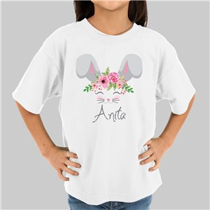 Flower Crowned Bunny Shirt | Personalized Easter Shirt