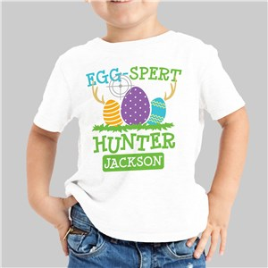 Eggspert Hunter Personalized White Youth T-Shirt 314257X