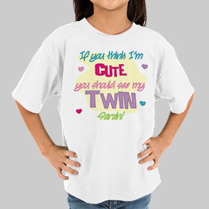 You Should See My Twin Youth T-Shirt | Personalized Twin Baby Gifts