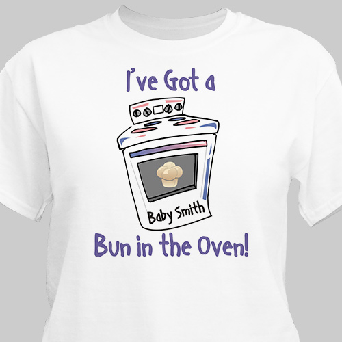 Bun In The Oven Maternity Personalized T-Shirt | Personalized T-shirts