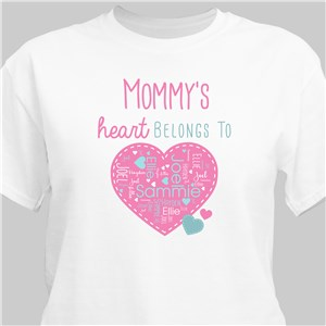 Personalized Grandma Shirt | My Heart Belongs To Gifts