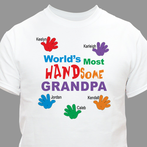Most HANDsome Personalized T-shirt | Father's Day Shirts