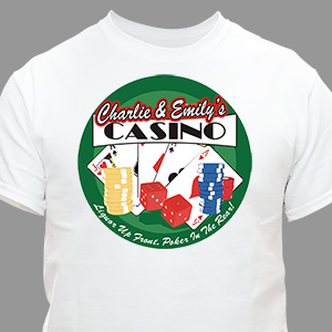 Custom Printed Poker Casino Adult T-shirt