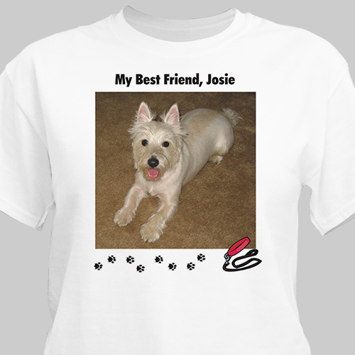 My Best Friend Dog Personalized Photo T-shirt | Personalized T-shirts