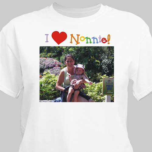 I Love Daddy  Personalized Photo T-Shirt