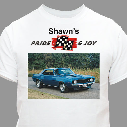 Personalized Car Fan Photo T-Shirt | Personalized Photo Gifts