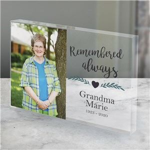 Remembered Always Photo Keepsake | Personalized Memorial Photos