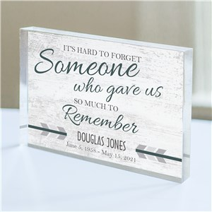 Personalized Memorial Keepsake | Hard To Forget Personalized Gift In Memory