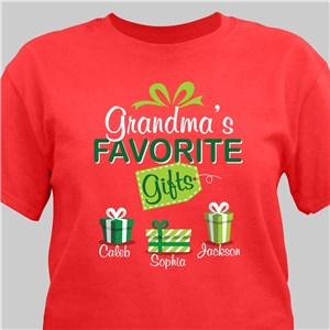 Favorite Shirt For Christmas | Personalized Gramma Shirts