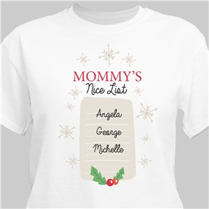Nice List T-Shirt | Personalized Christmas Shirt