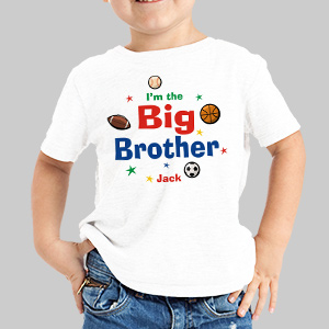 I'm the Brother Sports Personalized Youth T-shirt | Big Brother Gifts