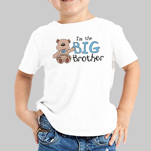 I am the Brother Teddy Bear Personalized Youth T-shirt