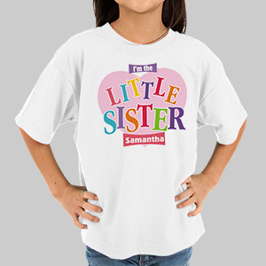 Big Sister Heart Personalized Youth T-shirt | Big Sister Gifts