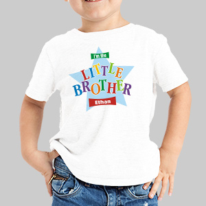 Big Brother Star Personalized Kids T-Shirt | Big Brother Gifts