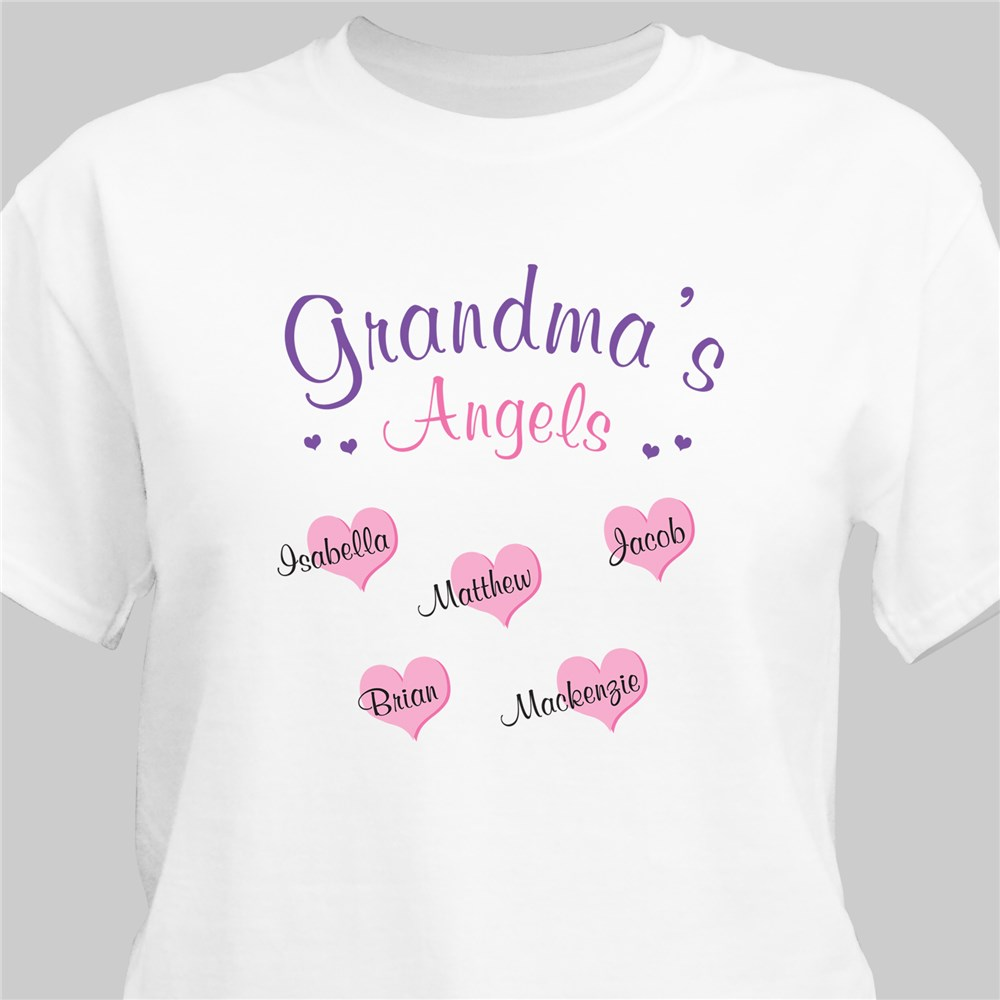 Angels of My Heart Personalized T-Shirt | Personalized Mom Shirts