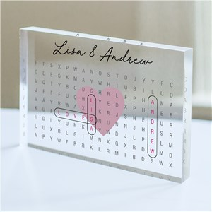 Personalized Couples Word Search Acrylic Keepsake 3158704