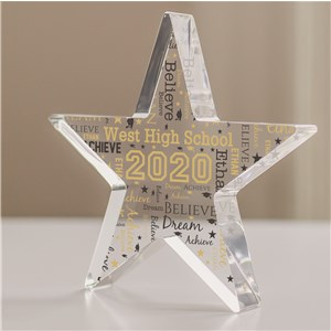 Personalized Graduation Word-Art Acrylic Star Keepsake 3160407