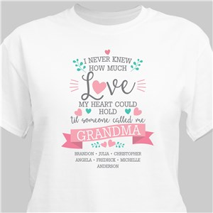 Personalized Love My Heart Could Hold T-shirt 316097X