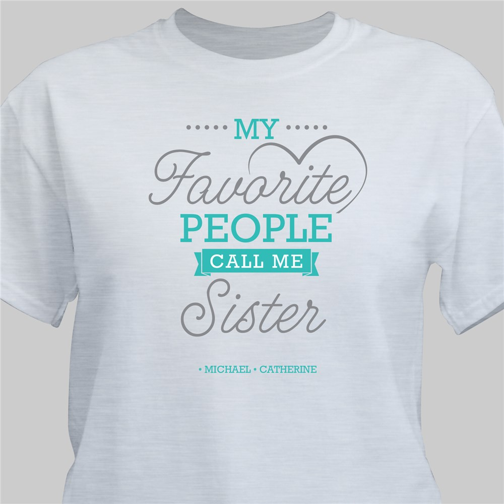 Personalized My Favorite People with Heart T-Shirt