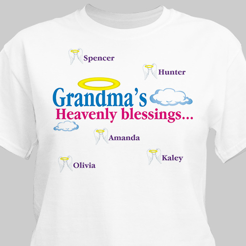 Heavenly Blessings Personalized T-Shirt | Personalized Grandma Gifts