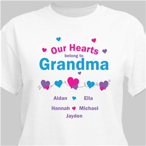 Our Hearts Personalized T-Shirt | Personalized Shirts For Her