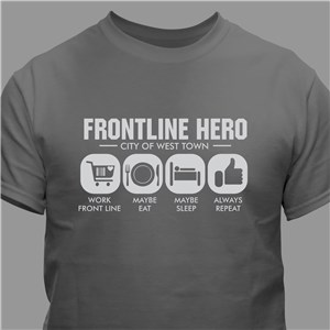 Personalized Work Frontlines T-Shirt