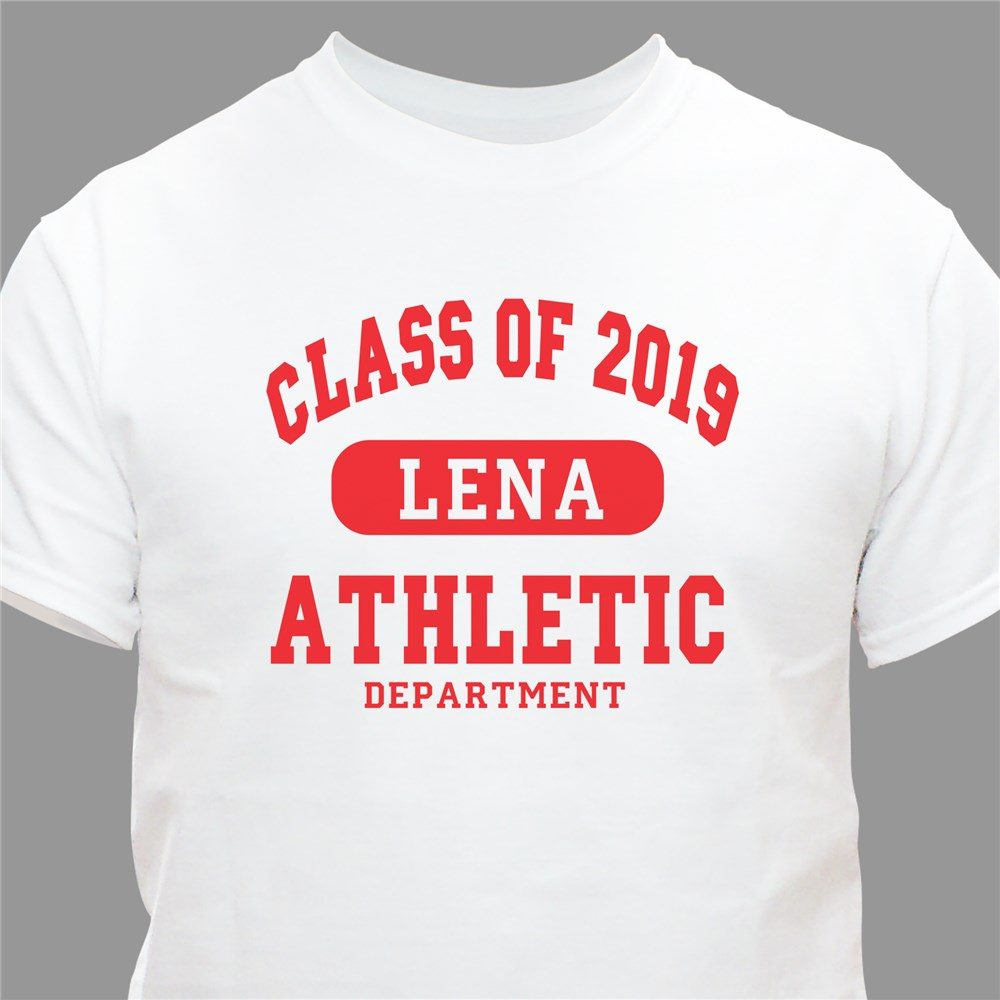 Class of ... Athletic Graduation Personalized T-Shirt | Personalized T-shirts