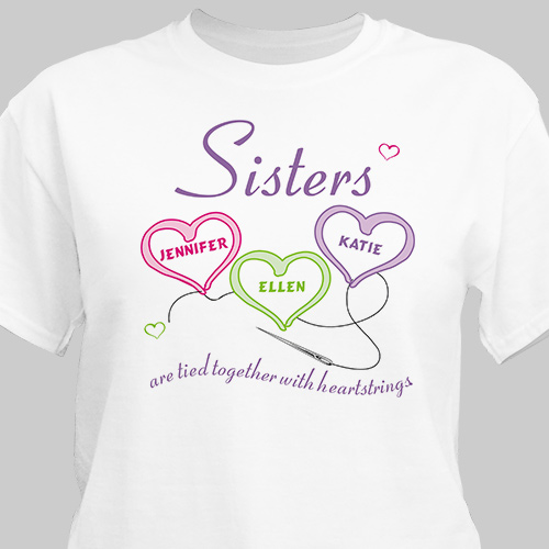 Personalized Sister Shirts | Heartstrings Shirt
