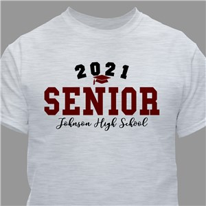 Personalized Senior T-Shirt with Graduation Year