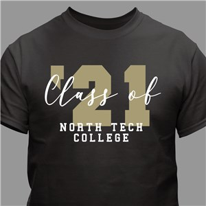Personalized Class of Grad T-Shirt