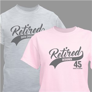 Personalized Retired Career T-Shirt 317780X